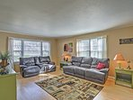 Lounge on the comfortable living room furnishings.