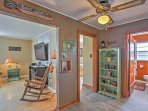 This vacation rental is decorated just like home!