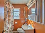 Freshen up and rinse away your daily activities in the shared, full-bathroom.