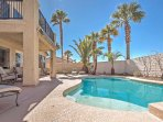 You'll love having access to a private pool right in your backyard when you stay at this 4-bedroom, 3-bathroom vacation...