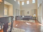 This home features 2 spacious living areas for guests to sit back and relax indoors.