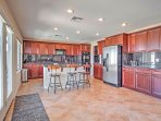 You'll love trying out new recipes in this fully equipped kitchen.