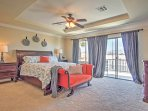 Retreat to the master bedroom at the end of the day for much needed privacy on your secluded balcony.