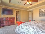 This room features a king-sized bed, flat screen TV, and ensuite bathroom.