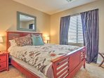 Stay warm and cozy throughout the night in this queen-sized bed.