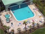 Ariel View of Indoor/Outdoor Seasonally Heated Pool