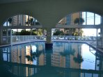 View Of Indoor/Outdoor Pool. Heated Seasonally.