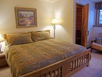 Master Bedroom with King Bed, Sauna, Futon, and Full Private Bathroom