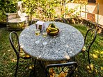 Detail of your garden's dining area