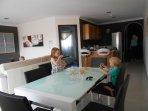 Open plan dining/kitchen/lounge