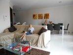 Corner unit includes sofa bed