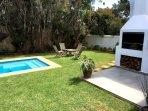 Private garden with swimming pool & braai area