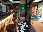 The Bar area...