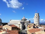the city of Pisa with its Leaning Tower is just 40 minutes away