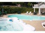 Private condo pool and hot tub.