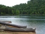 Rent canoes for a small fee right here at the resort.  Peaceful and stunning.