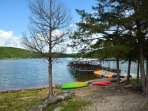 Kayaks, Canoes, Pedal Boats available to rent and explore five quiet coves.  Fantastic!