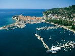 Budva Old Town aerial view