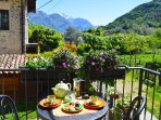 Enjoy breakfast from your very own little corner of paradise.. nature, vitamin D and peace and quiet