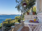 Apartments Lovro - Duplex One Bedroom Apartment with Terrace and Partial Sea Vie