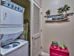 Wash the sand out of towels with in-unit laundry machines.