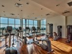 Use the fitness center to fuel your morning workout!