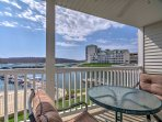 Enjoy private views of the Lake of the Ozarks from your balcony when you stay at this 3-bedroom, 2-bathroom vacation...