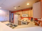 You'll love preparing meals in this fully equipped kitchen.