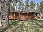 Retreat to this river's edge vacation rental home in Ruidoso. With 3 bedrooms and 2 bathrooms, it's the perfect place...
