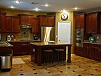 Huge kitchen stocked with everything imaginable