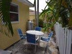 Chair, Furniture, Patio, Yard, Palm Tree