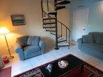 Banister, Handrail, Staircase, Chair, Furniture
