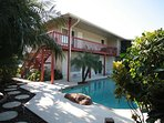 Building, Patio, Palm Tree, Tree, Hotel
