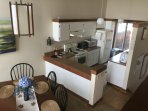 Dining room and kitchen with Unobstructed and panoramic view