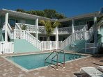 Banister, Handrail, Building, Pool, Resort
