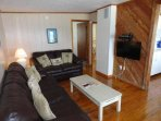 Couch, Furniture, Hardwood, Stained Wood, Indoors