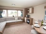 New Caravan. At the Top of the Park. Great for all the family lots of Entertainment.