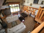 Vast sitting room with 2 seating areas, pool table, games area, table football, plasma and DVDs