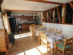 Large kitchen and dining room perfect for socialising with family and friends at any time of year