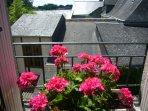 vue sur les toits de Chinon pris du petit salon
