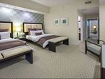 Contemporary design and high end room amenities make it difficult to leave these luxurious suites.