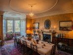 diningroom laid for breakfast