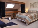 Loft Bedroom with Queen, private bathroom, TV, privacy curtain