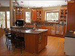 Large Kitchen with appliances & stations fit for a chef!
