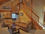 Sleeper Sofa and Vaulted Ceilings in the Living Room