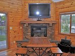Dining Area with HDTV, Stereo, and Gas Fireplace