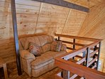 The Loft with loveseat for reading and relaxing