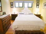 Guest room on the 2nd floor with queen size bed, spacious closet and shared bathroom