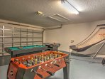 Stay entertained by playing a round of pool or hockey in the villa's game room!
