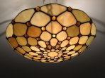Lounge feature ceiling light. A traditional touch to complement the modern feel to our apartment